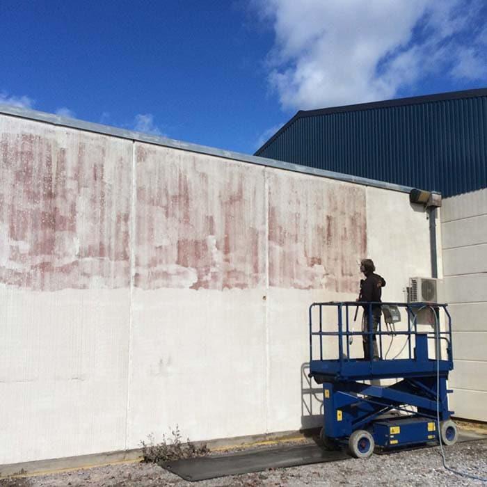 facade vask - rensning af facade